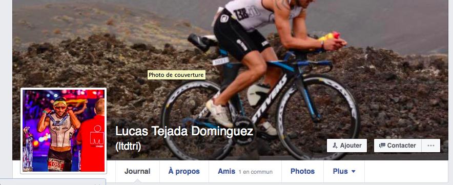 Capture d'écran de la page Facebook de Lucas Tejada Dominguez